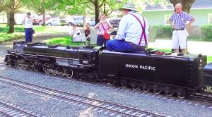 Large Scale 'Big Boy' Replica Stuns On Home Made Railroad!