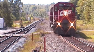 CP Freight Holds On Tight While Bouncing Down The Track!