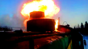 Russian Diesel Locomotive's Explosive Flame Out!