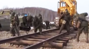 Russian Troops Take To The Rails!