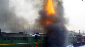 Russian Diesel Erupts Explosively Into The Sky!