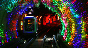 Shanghai Train's Spectacular Light Show!