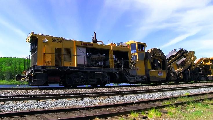 The Loram Shoulder Ballast Cleaner Is One Badass Machine! | Train Fanatics Videos