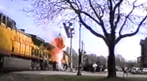 UP Engine Explodes In The Center Of Town!