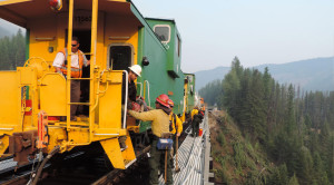 BNSF Crews And Firefighters Brave The Glacier National Park Fires!