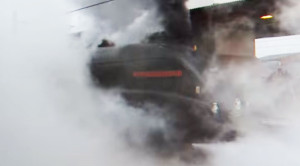 Surrounded By Steam! Standing Next To An LNER A4!