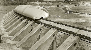 Early Alweg Track Shows Beginnings Of Modern Monorail!