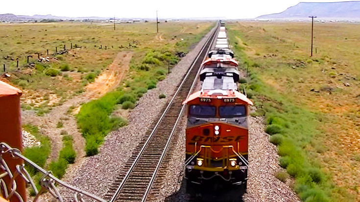 Mile Long Freight Trains, Back Bone Of America Along Route 66! | Train Fanatics Videos