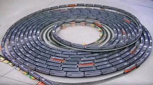 Mind-blowing H/O Scale Model Train Spiral!