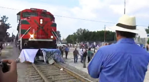 Protesters Try To Stop Train… Train Doesn't Care!