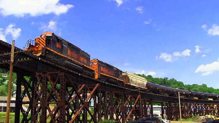 W&LE's #3049  On The Bellaire Viaduct | Train Fanatics Videos