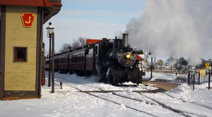 Strasburg Railroad's CN #89 Shows Off Steam In Winter
