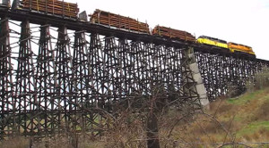 Holcomb Creek Wooden Train Trestle Still Standing!