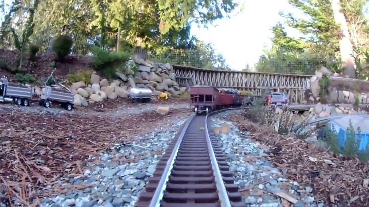 Brand New Garden Railway Around Boat Pond! | Train Fanatics Videos