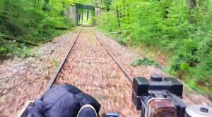 Man Builds  Home-made Rail Speeder