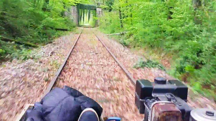 Man Builds  Home-made Rail Speeder | Train Fanatics Videos