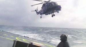 INSANE: Helicopter Lands On Shifting Ship As Sea RAGES!
