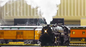 G Scale Hudson Locomotive Steams Just Like Real Thing!