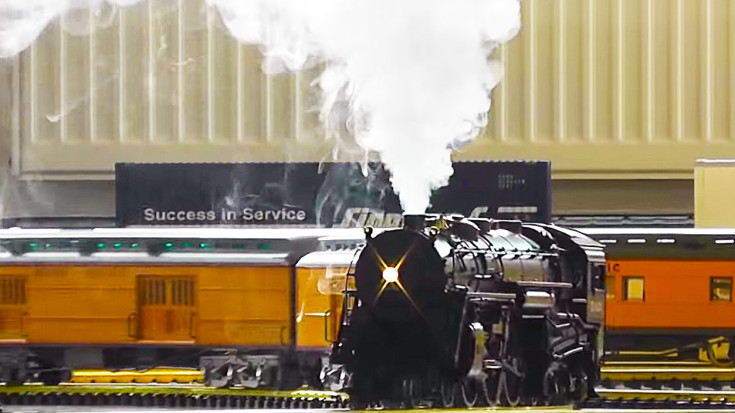 G Scale Hudson Locomotive Steams Just Like Real Thing! | Train Fanatics Videos
