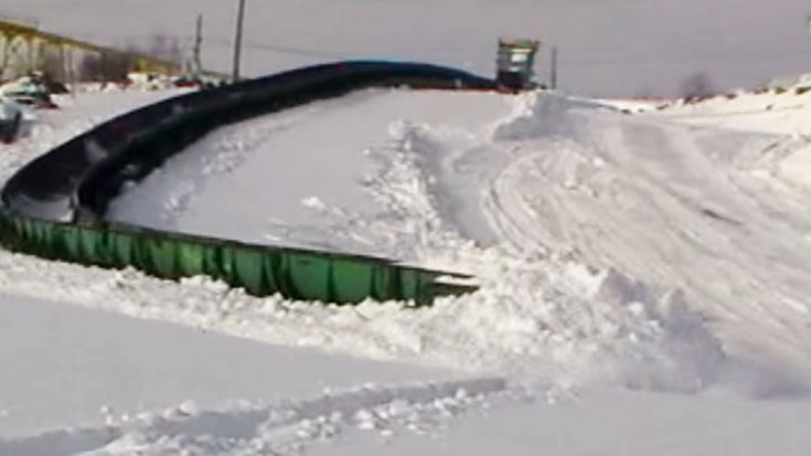 Ore Train Snakes Through The Snow | Train Fanatics Videos