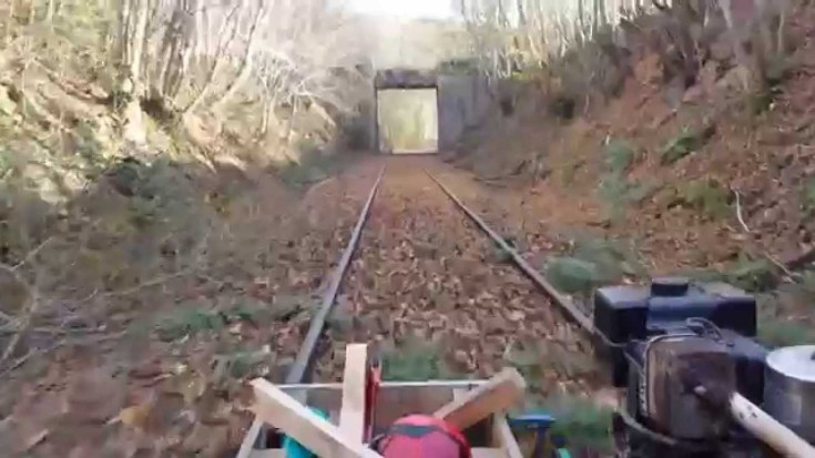 RailCart Engineer Brings His Dog Along For The Ride! | Train Fanatics Videos
