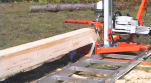 Portable Sawmill Rides Track Like A Train!