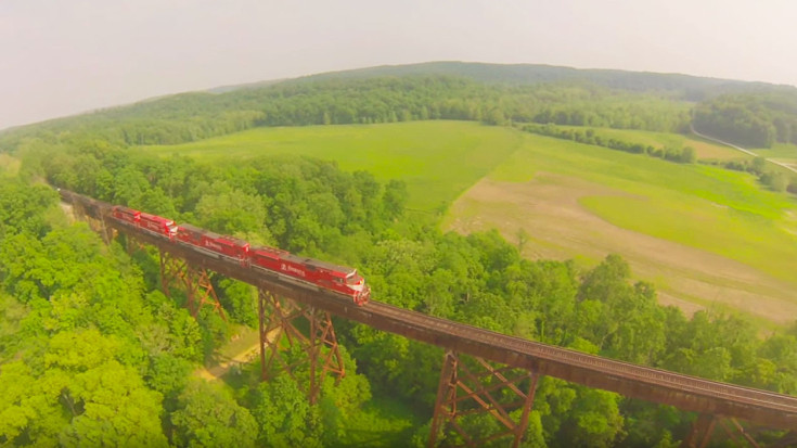 Longest Train Trestle In United States Is A Must See! | Train Fanatics Videos