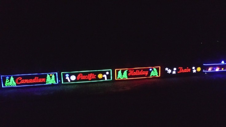 Canadian Pacific Holiday Train 2015 Seen From Santa's Sleigh! | Train Fanatics Videos