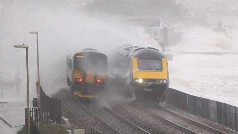 Storm Trounces South Devon Railway! | Train Fanatics Videos