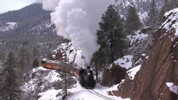 The D&RGW K-28 In Winter Takes Us Back to The Old West! | Train Fanatics Videos