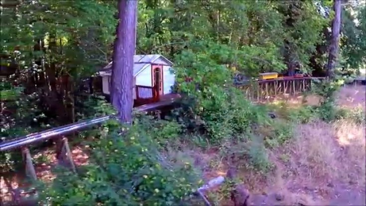 Is This The World's Record Longest Backyard Railroad Trestle? | Train Fanatics Videos