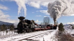 Sumpter Valley Railroad In Winter