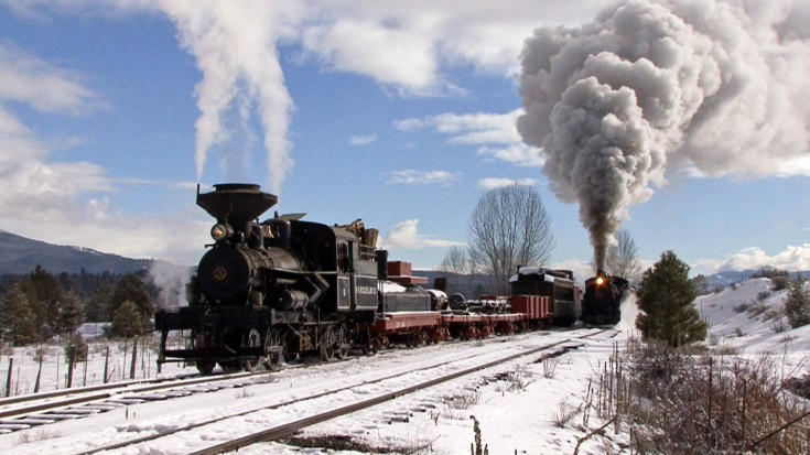 Sumpter Valley Railroad In Winter! | Train Fanatics Videos