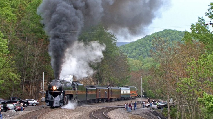 Bridge Dwellers Get Smoked Out By Norfolk And Western's J611 ! | Train Fanatics Videos