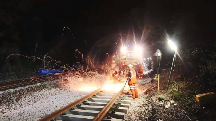 Network Rail in UK Makes Short Work Of Lowering Track! | Train Fanatics Videos