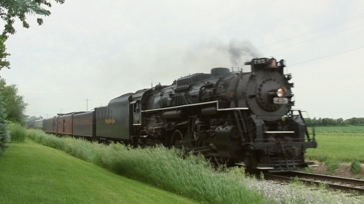 NKP 765 Coming At You From The Ground And In The Air! | Train Fanatics Videos