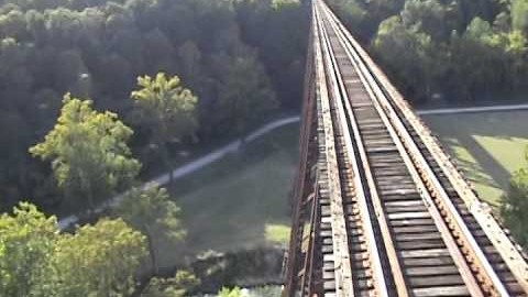100 Year Old Tulip Testle Is A High Wire Act For Engineers!   Train Fanatics Videos