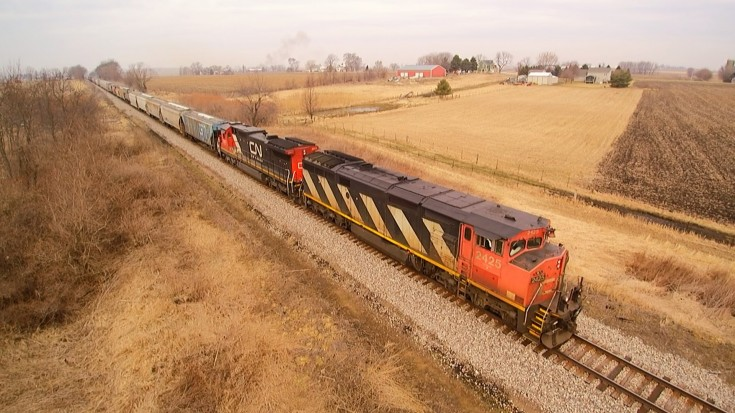 One Heck Of A Long Freight Filmed Drone Style! | Train Fanatics Videos