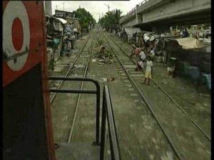 Philippine National Railways Runs Right Through Town!