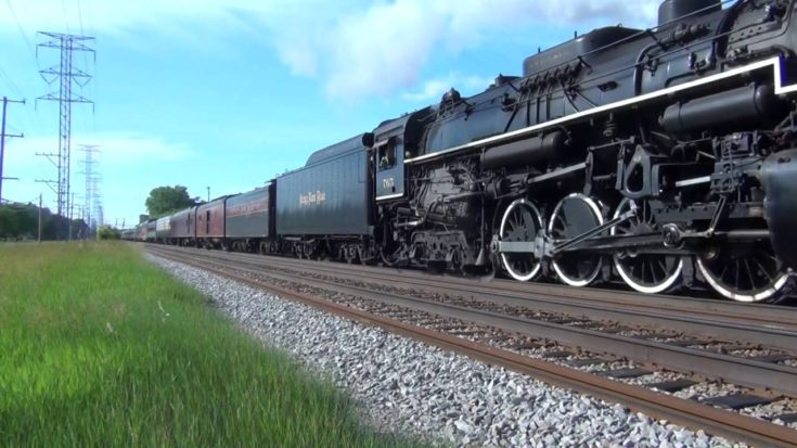 The Camera Shakes As the NKP765 Blasts Past At 74 Miles Per Hour! | Train Fanatics Videos