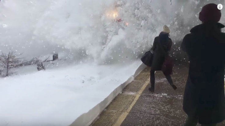 Snow Explodes On Amtrak Platform! | Train Fanatics Videos