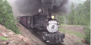 Rio Grande #315 Steaming Up To Complete Climb!