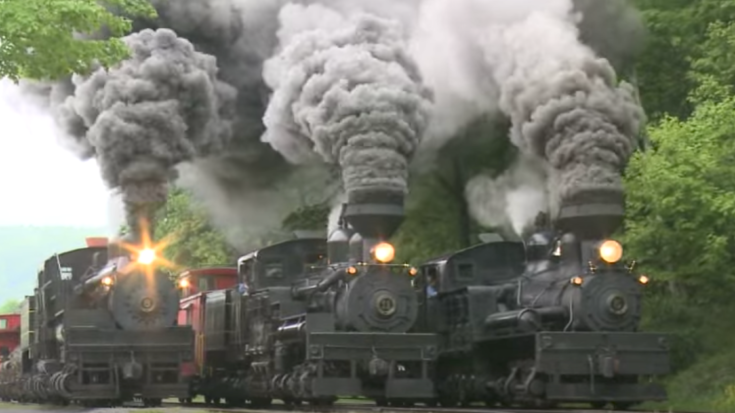 Triple Header Of Steam And Smoke! | Train Fanatics Videos