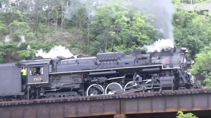 You Can Definitely Hear NKP #765 Before You See Her! | Train Fanatics Videos