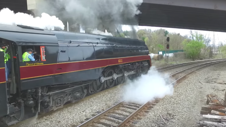 Norfolk & Western J611 On The Move! | Train Fanatics Videos