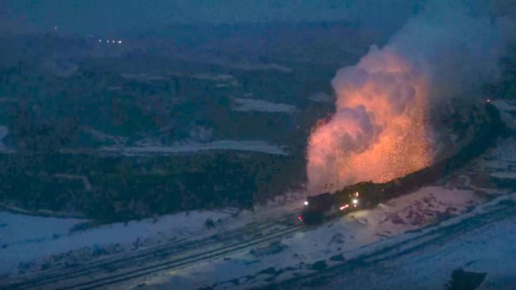 JS 2-8-2 Puts On A Real Fireworks Show! | Train Fanatics Videos