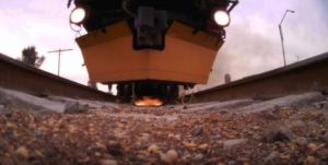 Loram Grinder Train From Underneath!