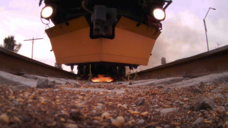 Loram Grinder Train From Underneath! | Train Fanatics Videos