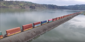 Double Freights In The Columbia River Gorge!