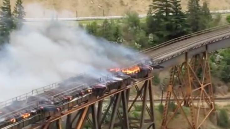 CNR Cisco Bridge Fire ! | Train Fanatics Videos
